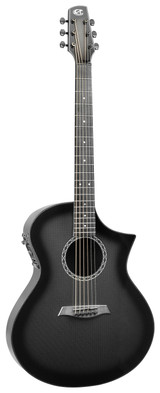 Peavey 03027240 GX HG Carbon Burst 6 String Acoustic Guitar with Carbon Fiber Top Back and Sides (Hardshell Case Included)