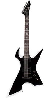 ESP LMAX200RPRBW Max Cavalera Signature 6 Strings Solid-Body Electric Guitar with Basswood Body and Maple Neck - Black with White Bevel