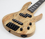 """ESP LTD RB-1005 """"Rocco's Bass"""" 5-String Bass Guitar with Dense Swamp Ash Body, Figured Spalted Maple Top in Natural Satin Finish"""