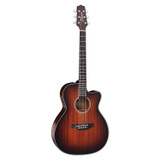 Takamine CP771MC SB 6 Strings OM Cutaway Acoustic Electric Guitar with CTP-3 CoolTube - Shadow Burst Satin