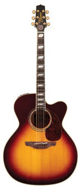 Takamine EF250TK Toby Keith Signature 6 String Jumbo Acoustic Electric Guitar with Case and CTB4 II Preamp - Sunburst