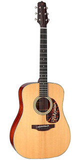 Takamine EF340S TT 6 Strings Thermal Top Acoustic Electric Guitar with Hard Case, Thermal Spruce Top, Mahogany Back and Sides - Natural