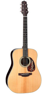 Takamine EF360S TT 6 Strings Thermal Top Acoustic Electric Guitar with Hard Case and TLD-2 Electronics - Natural