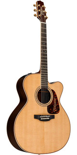 Takamine P7JC 6 Strings Pro Series 7 Jumbo Cutaway Acoustic Electric Guitar with Solid Spruce Top and CoolTube(CTP-3) Electronics - Natural Gloss