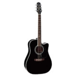 Takamine SW341SC Steve Wariner Signature 6 String Dreadnought Acoustic-Electric Guitar - Gloss Black