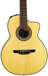 Takamine TC135SC  Classical 24-Fret Cutaway 6 String Acoustic Electric Guitar Natural with Solid Spruce Top and CTP-3 CoolTube Preamp - Natural Gloss