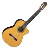 Takamine TH5C Classical 6 Nylon String Acoustic Guitar with Hard Case and CTP-3 CoolTube Preamp - Natural Gloss