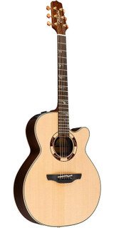 Takamine TSF48C 6 Strings Acoustic Electric Guitar with Ebony Finger Board and CoolTube (CTP-3) Electronics - Natural Gloss