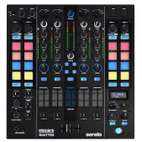 Mixars Quattro 4-Channel Club Mixer for Serato DJ with 16 Performance Pads with Hot Cue, Sampler and Transport Control