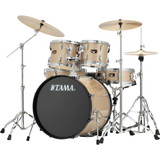 """Tama IP52NCCHM  Imperialstar 5-Piece Drum Set with Cymbals - 22"""" Bass Drum with Chrome Hardware in Champagne Mist"""