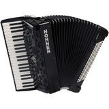 Hohner Amica Forte IV 120 Piano Accordion Included Gigbag and Straps - Jet Black