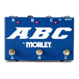 Morley ABC 3-Button Switcher Combiner Pedal with 3 Footswitches and True-bypass Switching