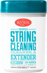 Kyser KDS100W String Cleaner & Extender (35 Wipes 4x6) Wipes