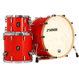 Sonor SQ1 3-Piece Shell Pack with 24 in. Bass Drum - Hot Rod Red