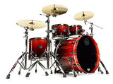 MAPEX SATURN V Exotic MH Rock 4PC Drums - Cherry Mist Mapel Burl SONICLEAR Edge