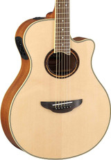 Yamaha APX700II - APX Series 6 Strings Thinline Acoustic Electric Cutaway Guitar in Natural