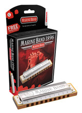 Hohner 1896BX-E Marine Band Harmonica with 20 Reeds & 0.9mm Brass Reedplates - Key Of E Major