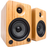 Kanto YU4 2 Way Bookshelf Powered Speakers with Phono Preamp and Bluetooth with aptX  - Bamboo