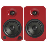 Kanto YU4 2 Way Bookshelf Powered Speakers with Phono Preamp and Bluetooth with aptX  - Gloss Red