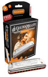 Hohner Golden Melody 10 Hole Diatonic Harmonica with 3 Octaves - Key of G