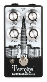EarthQuaker Devices Terminal V2 Fuzz Effect Guitar Pedal with Voice, Treble, Fuzz and Level Controls