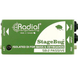 Radial StageBug SB-2 Single Channel Passive Instrument Direct Box with Eclipse ET-DB3 Transformer and 15dB Pad