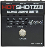 Radial HotShot ABI Line Input Selector with On Stage Line Input Signal AB Redirector