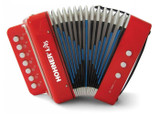 Hohner UC102R Musical Toy Accordion with Seven Treble and Two Chord Buttons - Red (Includes a songbook with playing instructions)