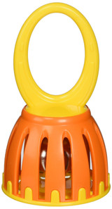 """Hohner MP-341DB Kids 5"""" Handled Cage Bell Perfectly Sized for Little Hands to Grasp & Shake - Ages 3 months and older (Single Piece)"""