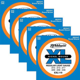 D'Addario EXL110 10-46 Nickel Wound Electric Guitar Strings Regular Light - 5 Pack
