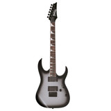 Ibanez GIO Series GRG121DX Solidbody Electric Guitar with Mahogany Body, Maple Neck, Rosewood Fingerboard, and 2 Humbucking Pickups - Metallic Gray Sunburst