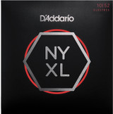 D'Addario NYXL1052 Nickel Wound Electric Guitar Strings, Light Top / Heavy Bottom, 10-52 with High Carbon Steel Alloy
