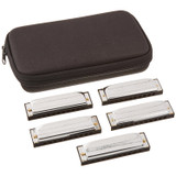 Hohner Marine Band Special 20 Harmonica 5-Piece Pro Pack with Case - Keys of G, A, C, D, & E