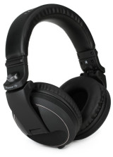 Pioneer DJ HDJ-X5 Closed-back Circumaural Professional DJ Headphones with Detachable Cable and Carry Pouch - Black