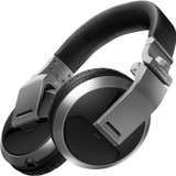 Pioneer Pro DJ HDJ-X5-S Military Standard Shock-Resistant Over-Ear DJ Headphones with 40mm Drivers (Includes Carrying Pouch and Adapter) - Silver