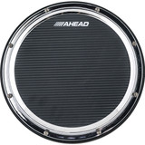 "Ahead AHSHPCH 14"" Black/CHROME S-Hoop Marching Pad with Snare Sound -Black Carbon Fiber"