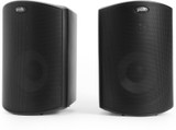 Polk Audio Atrium 5 All-Weather Outdoor Speakers (Pair) with Powerful Bass, Broad Sound Coverage and Speed-Lock Mounting System - Black