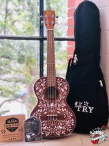Kala Mandy Harvey Learn to Play Singnature Series Tenor Ukulele KIT with Tote Bag, Quickstart Guide,Clip-On Tuner, Free Online Lessons and Free Kala App