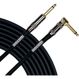 "Mogami PLATINUM GUITAR-12R Instrument Cable, 1/4"" TS Male Plugs, Gold Contacts, Right Angle and Straight Connectors, 12 Foot"