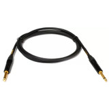 "Mogami GOLD INSTRUMENT-18RR Guitar Instrument Cable, 1/4"" TS Male Plugs, Gold Contacts, Right Angle Connectors, 18 Foot"