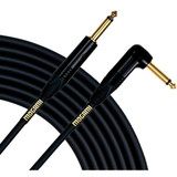 "Mogami GOLD INSTRUMENT-18R Guitar Instrument Cable, 1/4"" TS Male Plugs, Gold Contacts, Right Angle and Straight Connectors, 18 Foot"