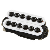 Seymour Duncan SSH 8 N WH Invader Humbucker Neck Pickup with 3 Ceramic Magnets and Over-wound Coils - White
