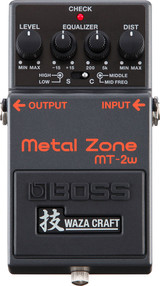 Boss MT-2W Waza Metal Zone Distortion Effect Pedal with 3-band EQ and Premium Buffer