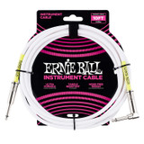 Ernie Ball P06049 Classic 10' Straight Instrument Cable - White