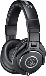 Audio Technica ATH-M40X Closed-back Professional Headphones with Accurate Sound for Studio, Live & DJ Use - Black