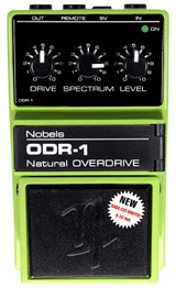 Nobel ODR-1-BC Natural Overdrive Effect Pedal with Bass Cut Switch 9-18 Volt  - Updated Version