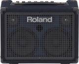"Roland KC-2020 30W 2x6.5"" Battery Powered Stereo Keyboard Amplifier with XLR Mic Input and Reverb/Chorus Effects -  Black"