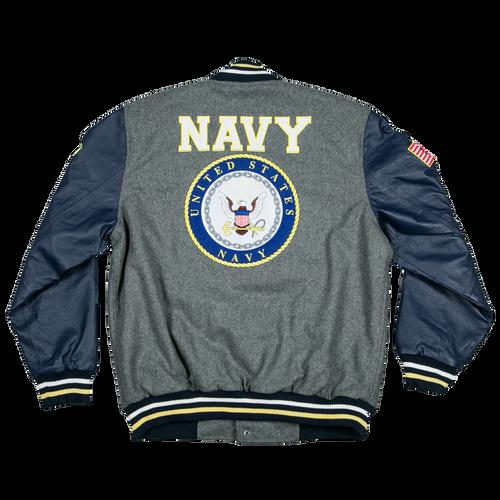 US Navy Leather Varsity Jacket