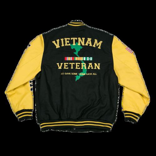Vietnam Veteran Leather Varsity Jacket