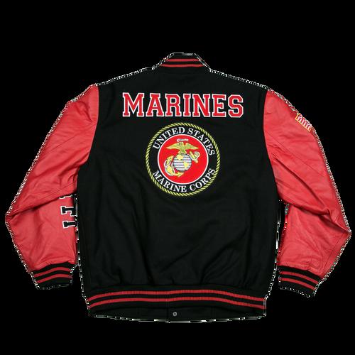 US Marines Leather Varsity Jacket